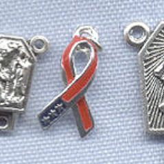 USA Patriotic Ribbon Charm ~ SP