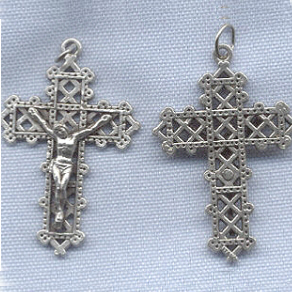 Latticework Crucifix ~SP~ 1 1/2 in