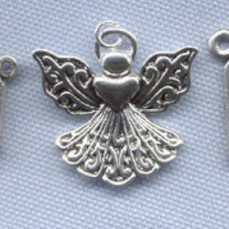 Angel Charm (Large Heart Filigree) ~ SP