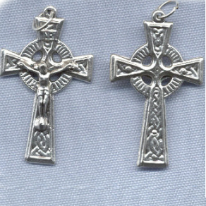 Celtic Crucifix (Traditional/Fancy Back) ~SP~ 1 5/8 in.