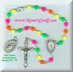 Bright Neon Multi Colored Car Rosary