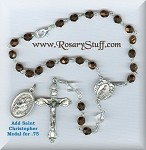 Dark Bronze Miraculous Angels Car Rosary