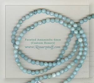 Custom Amazonite 6mm Faceted Stone ROSARY