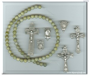 Custom Connemara Marble 6mm Stone ROSARY