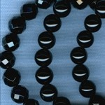 Custom Black Onyx 8mm Round and Faceted Stone ROSARY