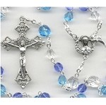 Aqua and Blue Glass Whale/Dolphin Rosary
