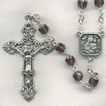 Amethyst/Silver Glass Cathedral Rosary