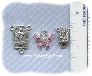 Purple Butterfly Charm ~ SP/Swarovski