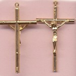 Basic Round Crucifix ~GP~ 2 in.