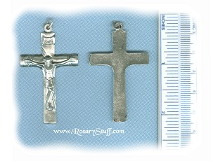 Basic Crucifix with Rope Markings  ~SP~ 1 3/4 in.