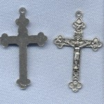 Eucharistic/Trinity Crucifix (Small) ~SP~ 1 1/2 in.