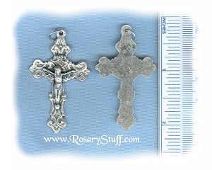 Fancy/Solid Filigree Crucifix ~SP~ 1 3/4 in