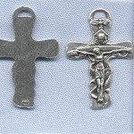 Holy Trinity Crucifix <i>(Wavy)</i> ~SP~ 1 5/8 in.