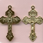 Pardon Crucifix ~GP~ 2 1/4 in.