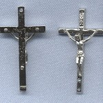 Wavy Crucifix (Small) ~Ni~ 1 1/2 in