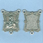 Mary with Baby Jesus Ornate Rectangle Center ~SP~ 1 in