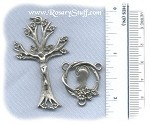 Tree of Life Rosary Set ~ Pewter