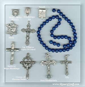 Custom Blue Lapis-Color Stone 8mm ROSARY