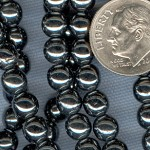 Custom Hematite 6mm Czech Glass Round ROSARY