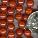 Custom Orange Luster Opaque 6mm Round Czech Glass ROSARY