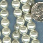 Custom White Snow 8mm Czech Glass Pearl ROSARY