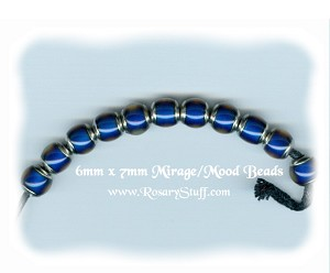 "Mirage ""Mood"" Color Changing Beads 6x7mm"