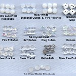 Custom Czech Glass Pater Choices ~ Clear/White