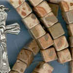 Custom African Map Jasper 8mm Cube Stone ROSARY