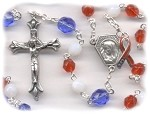 Liberty Rosary for Our Vets ~ Red, White & Blue