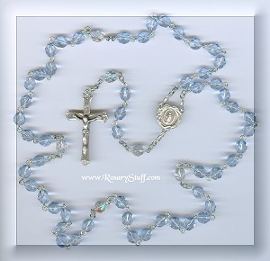 Blue Lace Agate Stone Rosary for Barbara