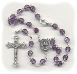 Luster Transparent Amethyst Car Rosary