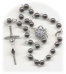 Hematite Colored Car Rosary
