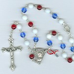 Liberty Car Rosary ~Red, White & Blue~ For Our Troops