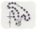 Tanzanite Fire Polished Car Rosary