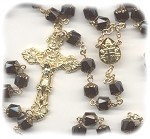 Jet Black/Bronze Cathedral Rosary