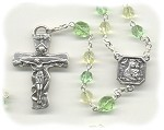 Jonquil & Peridot Glass Rosary ~ Pope Inspired