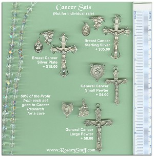 Custom Center & Crucifix Sets ~ CANCER