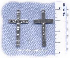 Rosary Repair for Mary with new Lily Center (rhodium & enamel)