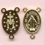 Miraculous Medal Center ~GP~ 3/4 in