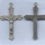 Sacred Heart Crucifix (Large) ~2 in~ Pewter