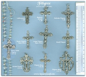Custom Crucifix Choices: Filigree