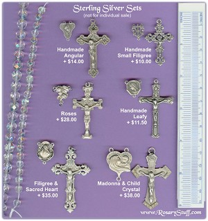 Custom Center & Crucifix Sets ~ STERLING SILVER