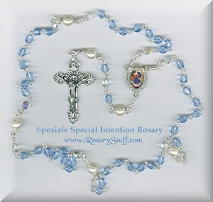 Light Sapphire Blue Special Intention Rosary