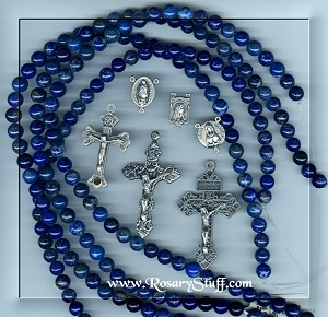 Custom Lapis 8mm STONE Rosary