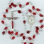 Blood & Tears Infinity Rosary ~ Czech Glass