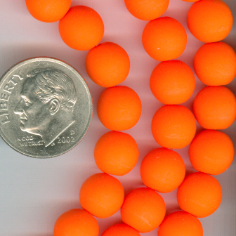 Custom Neon Orange 8mm Czech Glass Rosary