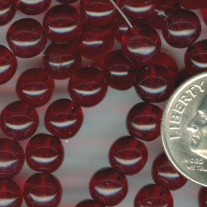 Custom Ruby 6mm Round Czech Glass Rosary