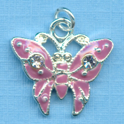 Purple Swarovski Butterfly Charm