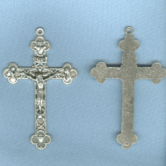Eucharistic/Trinity Crucifix (Large) ~SP~ 2 3/8 in.
