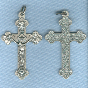 Eucharistic/Trinity Crucifix (NEW) ~SP~ 2 1/8 in.